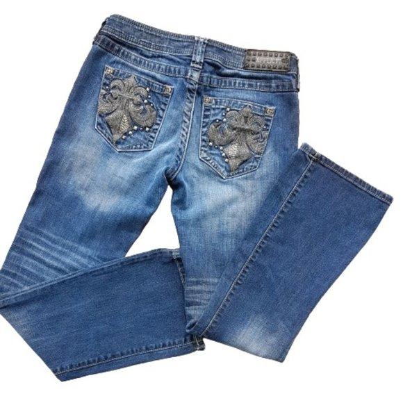 Studded AFFLICTION BLACK PREMIUM JADE Reg Jeans
